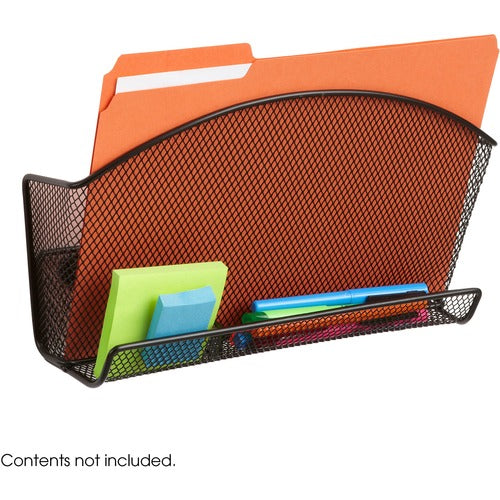 Safco Products Onyx Magnetic Mesh File Pocket with Accessory Organizer 4180BL(Image 2)