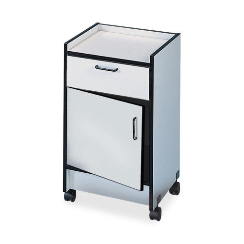 Hausmann Drawer and Cabinet Mobile Cart HNI901820927, Gray (UPC:000000000000)