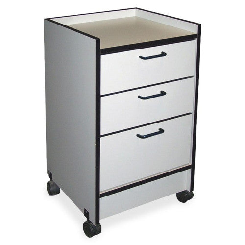 Hausmann 3-Drawer Mobile Cart HNI903820927, Gray (UPC:000000000000)