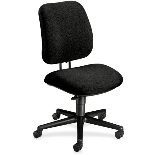 HON 7701 Pneumatic Task Chair HON7701AB10T, Black (UPC:745123330541)