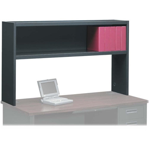HON 38000 Series Stack-On Open Shelf Storage Hutch HON38243NS, Black (UPC:089192741151)