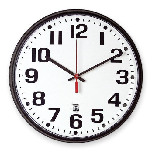 SKILCRAFT SKILCRAFT Black Body SelfSet Wall Clock ; (830951003795)