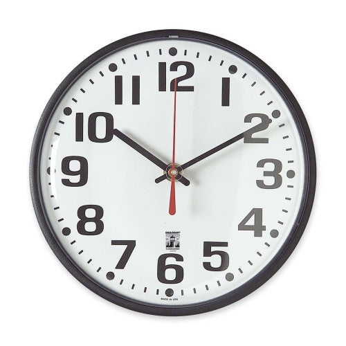 SKILCRAFT SKILCRAFT Black Body SelfSet Wall Clock ; (830951003818)