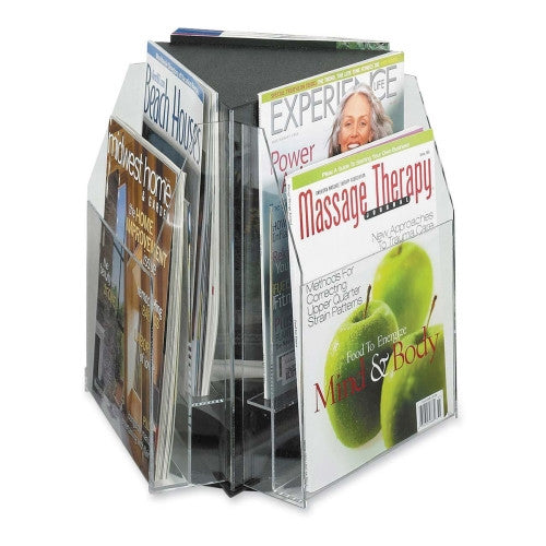 Safco Literature / Magazine Sorter and Rack SAF5698CL, Clear (UPC:073555569803)