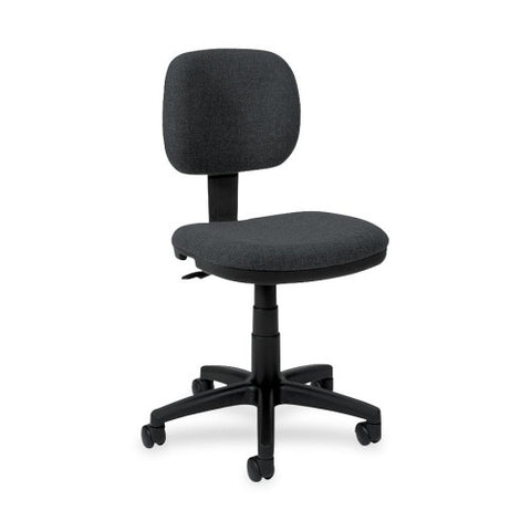 basyx by HON HVL610 Light Duty Low-Back Task Chair ; Color: Charcoal; UPC: 782986184249