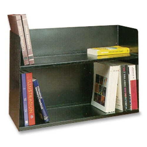 Buddy Two Tier Book Rack BDY12214, Black (UPC:025719122140)