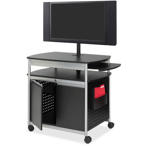 Safco Scoot Flat Panel Multimedia Display Cart SAF8941BL, Black (UPC:073555894127)