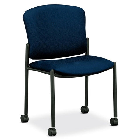 HON 4070 Series Mobile Armless Guest Chair HON4077NT90T, Blue (UPC:089192622504)