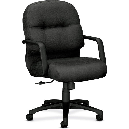 HON Pillow-soft 2090 Series Management Chair HON2092NT19T, Black (UPC:641128488556)