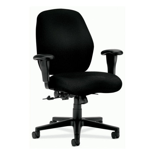 HON 7800 Series Mid Back Management Chair in black ; UPC: 089191941514