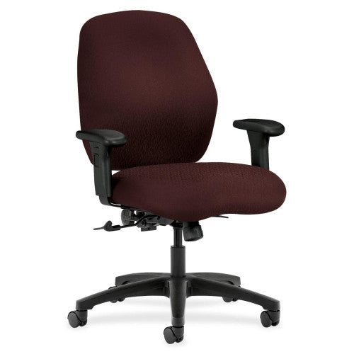 HON 7800 Series Mid Back Management Chair in Wine ; UPC: 089191951940