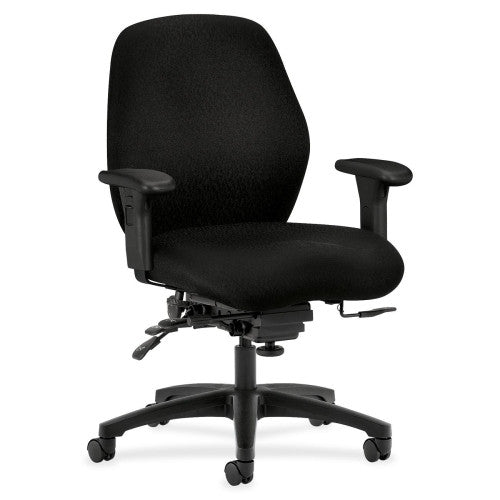 HON 7800 Series Mid Back Management HON7828NT10T, Black (UPC:089192044801)