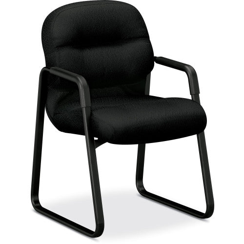 HON Pillow-Soft 2090 Series Guest Chair HON2093NT10T, Black (UPC:089192508280)