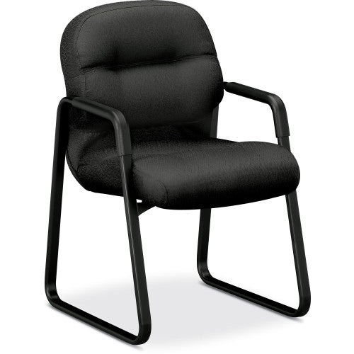 HON Pillow-Soft 2090 Series 2093 Guest chair HON2093NT19T, Black (UPC:645162159465)