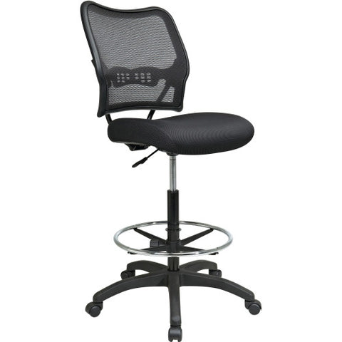 Office Star Air Grid Mesh Back Drafting Chair OSP1337N20D, Black (UPC:090234124177)