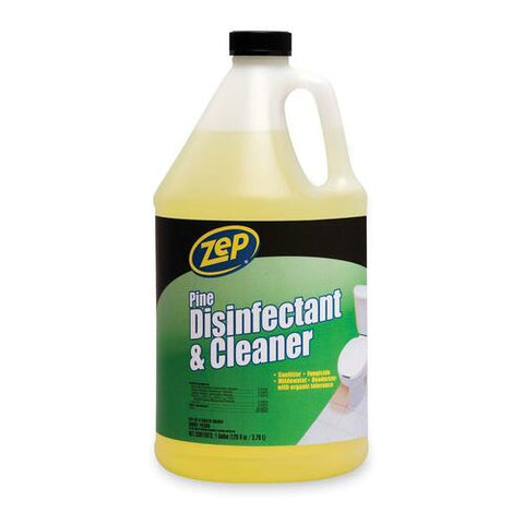 Zep Disinfectant & Cleaner - Liquid Solution - 1 gal (128 fl oz) - Pine Scent - 1 Each - Green ZPEZUPDC128