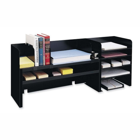 MMF Desk Organizers with Movable Shelves MMF2061DOBK, Black (UPC:079946000573)