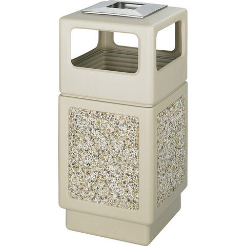 Safco Products Canmeleon Aggregate Panel, Ash Urn/Side Open, 38 Gallon 9473TN(Image 3)