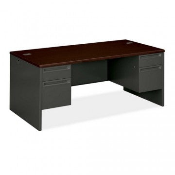 "HON_HON 38000 Series Double Pedestal Desk - 2 Box & 2 File Drawers - 66""€ Width_ - 1"