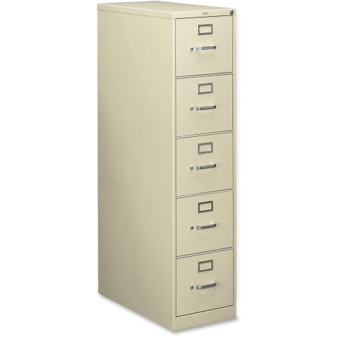 HON 210 Series 5-Drawer Vertical File HON215PL, Putty (UPC:089192036394)