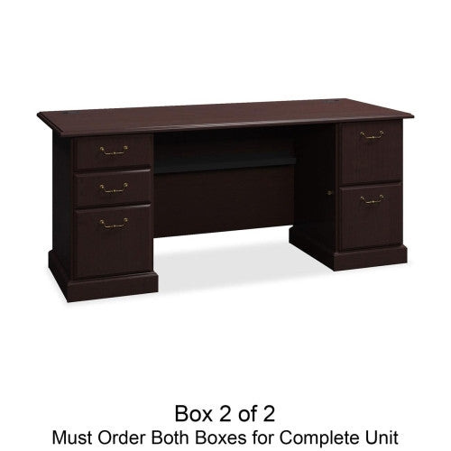 Bush Syndicate 72W Double Pedestal Desk Box 2 of 2 BSH6372MCA203, Cherry (UPC:042976637217)