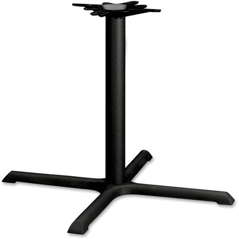HON Single Column Hospitality Table Base HONBBX36P, Black (UPC:645162401243)
