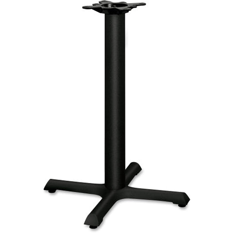 HON Single Column Hospitality Table Base HONBBX22P, Black (UPC:645162401236)
