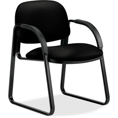HON Sensible Seating 6008 Sled Base Guest Chair HON6008NT10T, Black (UPC:631530441782)