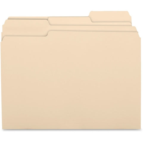 Business Source 1/3 Cut Recycled Top Tab File Folder ; UPC: 035255175258