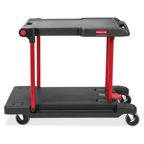 Rubbermaid Convertible Mobile Cart RCP430000, Black (UPC:086876191523)