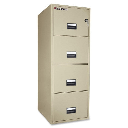 Sentry Vertical Fire File Cabinet SEN4G2531P, Putty (UPC:049074011574)