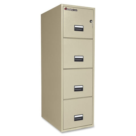 Sentry Vertical Fire File Cabinet SEN4T2531P, Putty (UPC:049074011512)