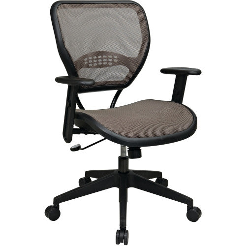 Office Star Space Latte Air Grid Seat & Back Deluxe Task Chair OSP5588N15, Black (UPC:090234160625)