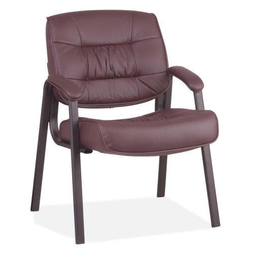 Office Star Leather Visitors Chair OSPEX81244, Burgundy (UPC:090234050421)