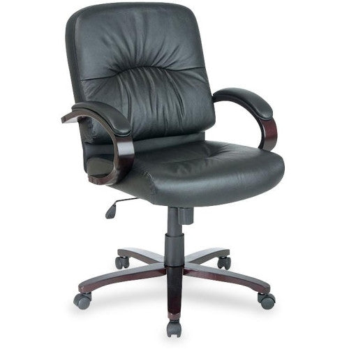 Lorell Woodbridge Series Managerial Mid-Back Chair ; UPC: 035255603393