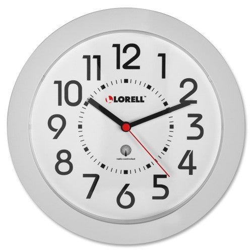 Lorell Round Profile Radio Controlled Wall Clock ; UPC: 035255609852