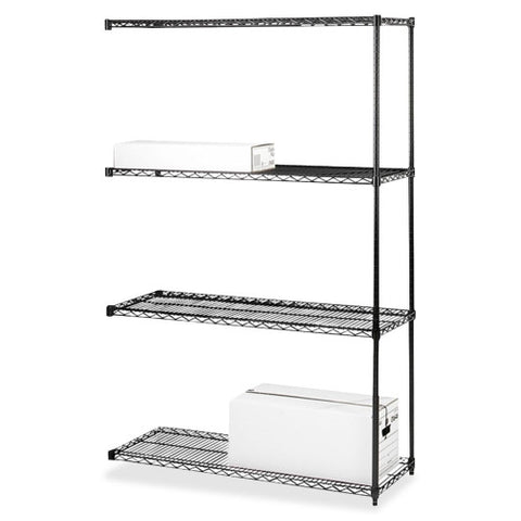 Lorell 4-Tier Industrial Wire Shelving Add-On-Unit ; UPC: 035255691475
