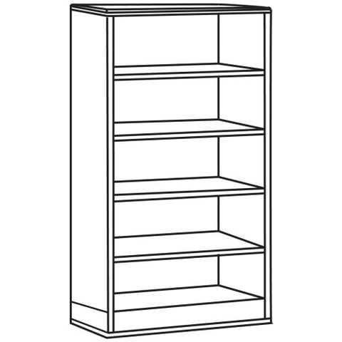 Lorell Contemporary 9000 Bookcase ; UPC: 035255900317
