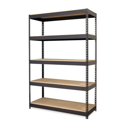 Hirsh Riveted Boltless Shelf Unit HID17313, Black (UPC:029404173134)