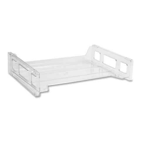 Business Source Side-loading Letter Tray BSN42587, Clear (UPC:035255425872)