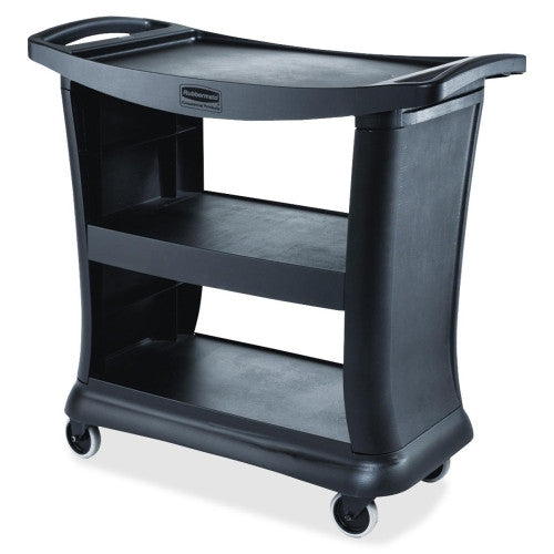 Rubbermaid 9T68 Executive Service Cart RCP9T6800, Black (UPC:086876200447)