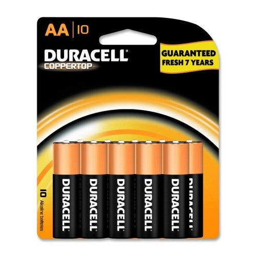 Duracell CopperTop Alkaline AA Battery ; (041333048642)