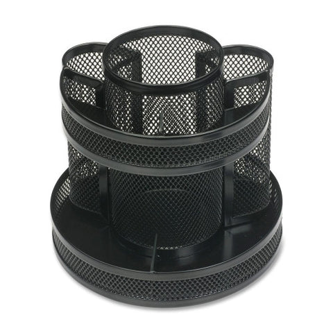 Business Source Rotary Mesh Organizer BSN62886, Black (UPC:035255628860)