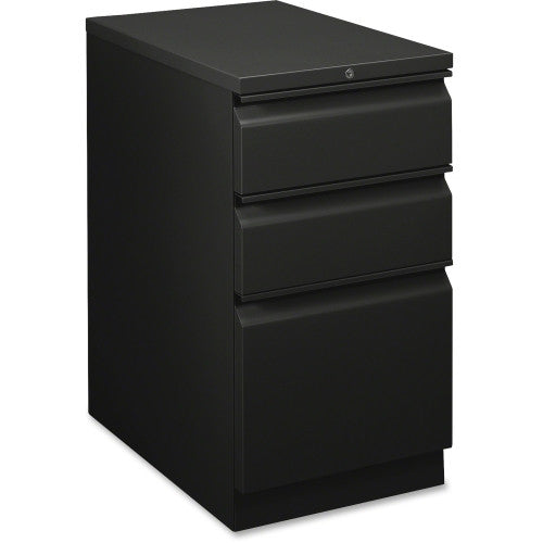 HON Flagship Black Standard-height Mobile Pedestal HON18723RP, Black (UPC:631530230423)