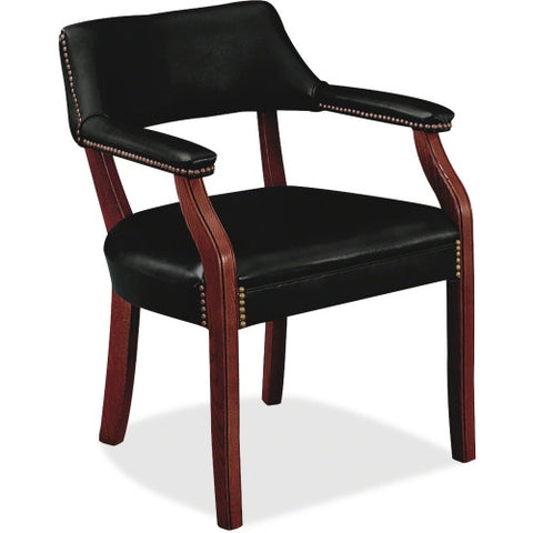 HON 6550 Series Hardwood Frame Guest Chair HON6551NEJ10, Black (UPC:020459249812)