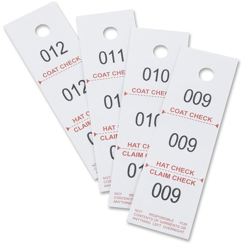 Safco Products Three-Part Coat Room Checks 4249NC(Image 2)