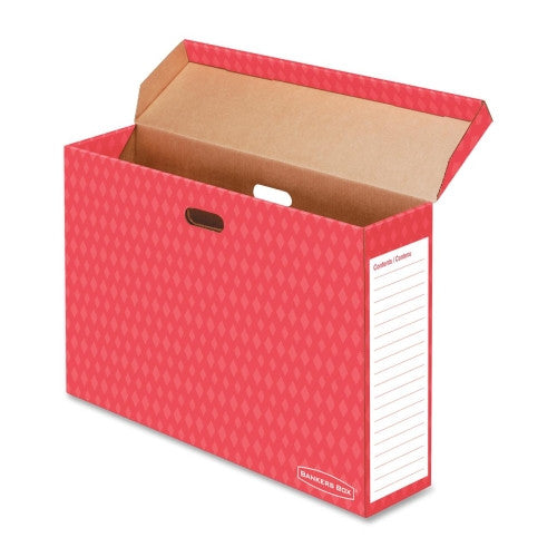 Fellowes Bulletin Board Storage Boxes FEL3380201, Red (UPC:043859607211)