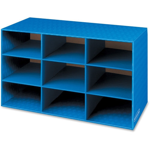 Fellowes 9 Compartment Classroom Cubby FEL3380701, Blue (UPC:043859607266)