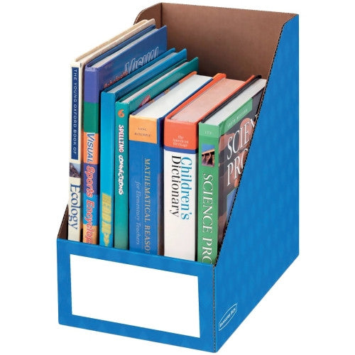 "Fellowes 8"" Magazine File Holders FEL3380901, Blue (UPC:043859607280)"