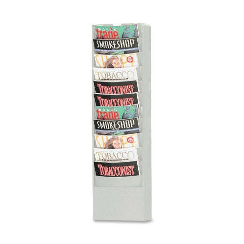 Buddy Eclipse Curved Literature Rack BDY086232, Silver (UPC:025719086282)